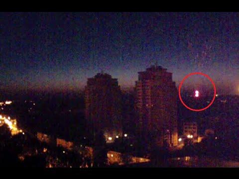 Skyline cam catches night explosions over Donetsk, E. Ukraine