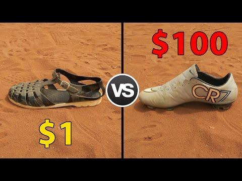 $1 Vs. $100 FOOTBALL BOOTS !!!