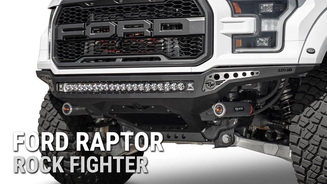 2017 2019 Ford Raptor Rock Fighter Front Bumper