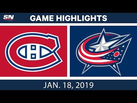 NHL Highlights   Canadiens vs. Blue Jackets - Jan. 18, 2019