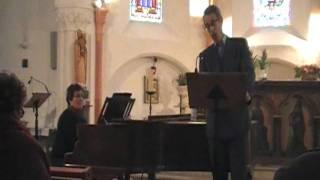 Dichterliebe (les amours du poête) Robert Schumann, Omar Benamara chant, Nadia Seguy piano