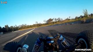h king rattler fpv driving on straight road 3 cell 40