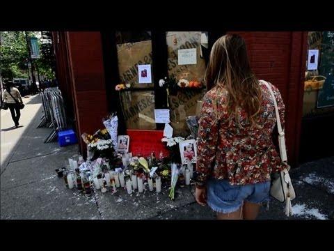 Makeshift shrine for gay man murdered in Manhattan