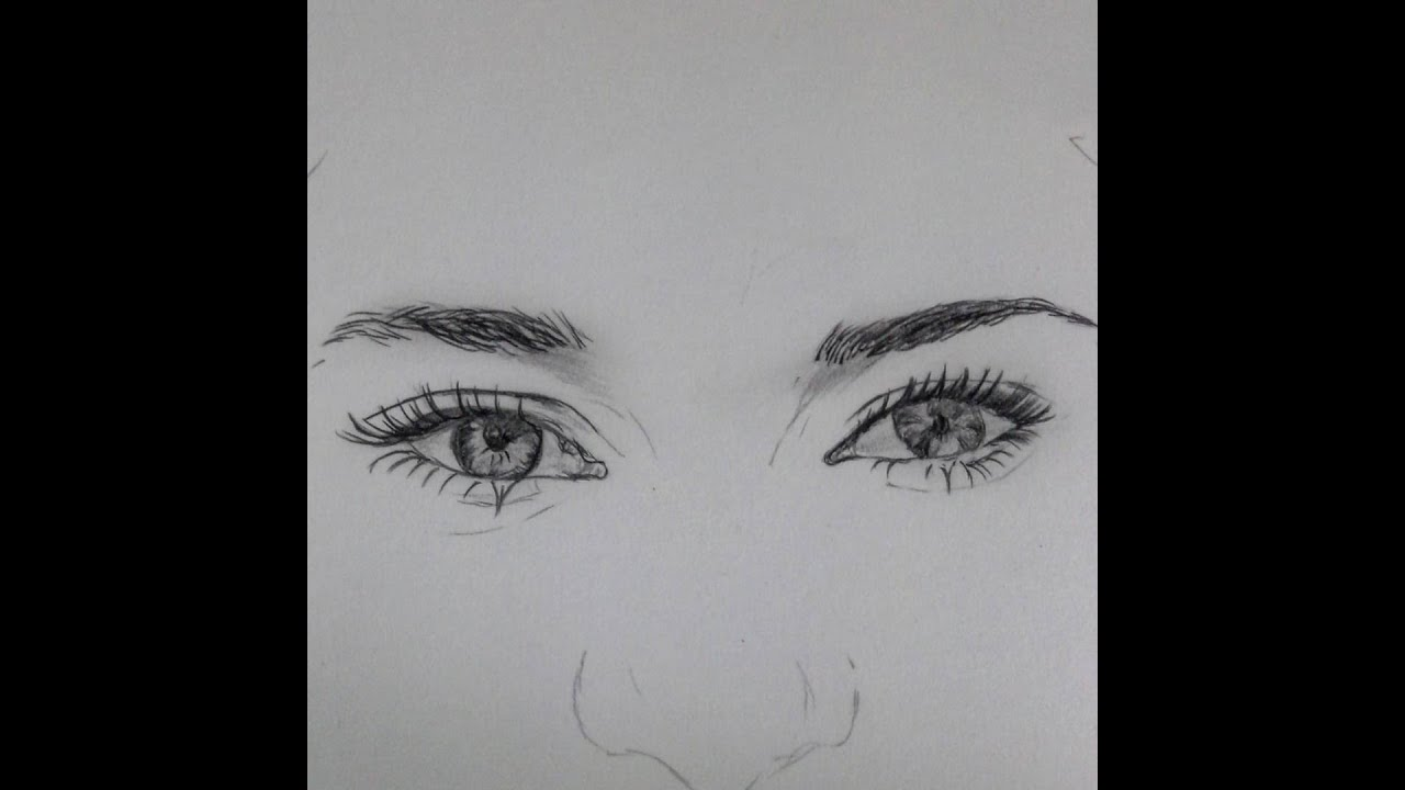 How to draw eyes , Brow shailene woodley - YouTube