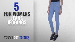 Top 10 For Womens Jeans Jeggings [2018]: DAMEN MODE Light Blue Denim Jeggings