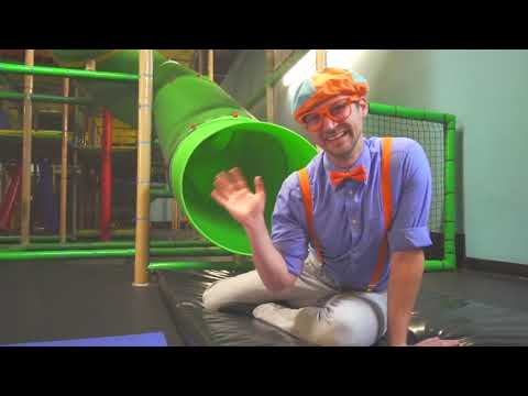 Blippi Toys! Blippi Playing at a Play Place Learning about Colors and Muscles for Kids