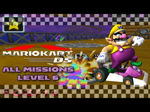 mario kart ds all level 6 missions w facecam wii u youtube. Black Bedroom Furniture Sets. Home Design Ideas