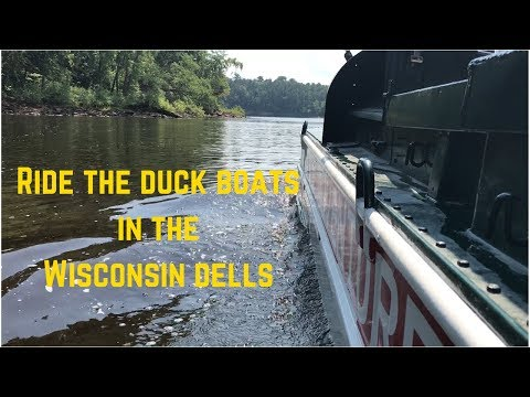 Ride the WWII amphibious Duck Boat in the Wisconsin River