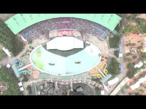 Cảnh quay Flycam ấn tượng trong chương trình ngày hội gia đình Honda tại Thiên đường Bảo Sơn
