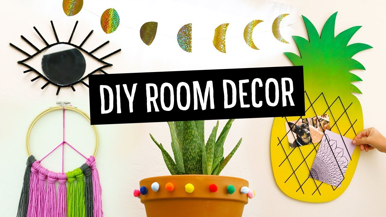 Cute Easy Diy Room Dorm Decor Ideas Sea Lemon Youtube