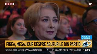 Gabriela Firea, mesaj dur pentru abuzurile din partid