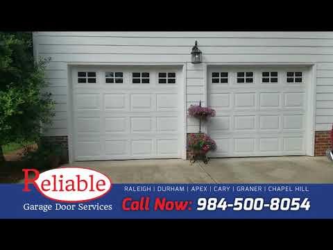 Two Garage Door Openers Replacement In Raleigh Nc Youtube