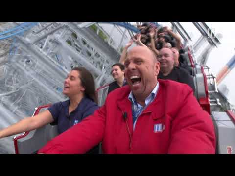 Take a ride on Six Fags Over Georgia's Twisted Cyclone roller coaster
