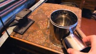 Печка щепочница с электроподдувом или печка Бонда своими руками Поддубные