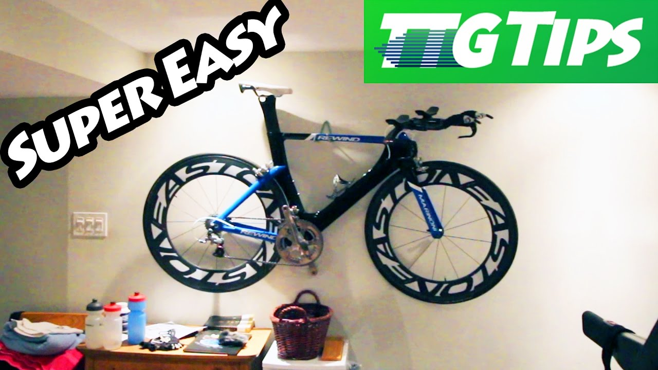 How To Hang Bike On Wall how to hang your bike on a wall - youtube