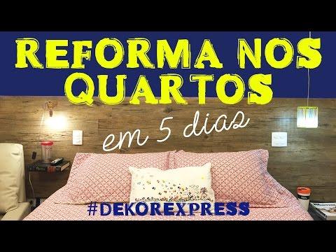 REFORMA DE 2 QUARTOS EM 5 DIAS - DEKOR EXPRESS POR ERIKA KARPUK