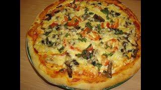 Как Быстро Приготовить Пиццу! Видео Рецеп как сделать вкусную ПИЦЦУ!!!