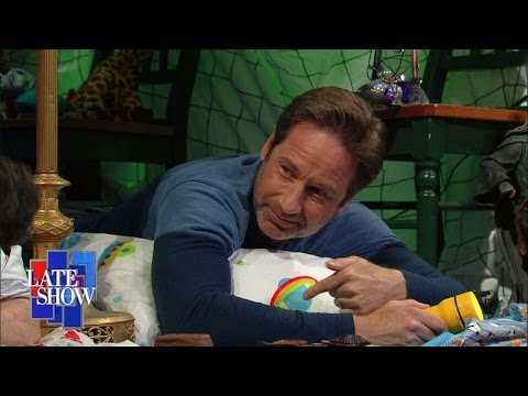 The Late Show Blanket Fort (with David Duchovny)