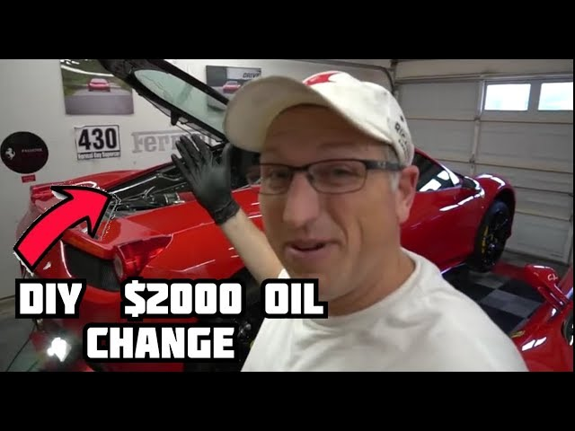 How To Change The Oil In A Ferrari 458 Youtube