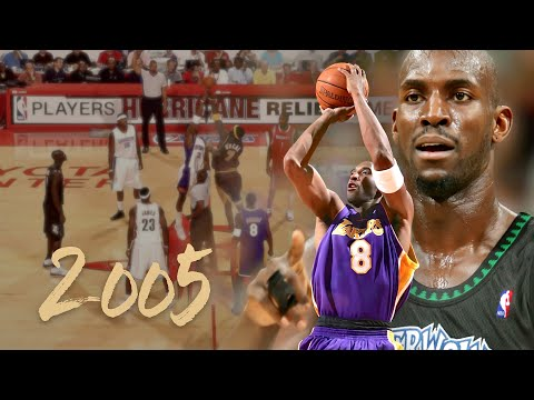 Kobe & KG Combine for 18 Pts, 5 Ast in the 2005 Hurricane Katrina Relief Game (Full Highlights)