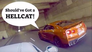 Nissan GTR teaches Challenger RT a valuable lesson!