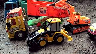 Download Video Backhoe, Excavator, Steam Roller dan Truck Mobil Mainan Anak-anak MP3 3GP MP4