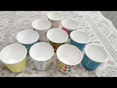 BEST OUT OF WASTE PAPER CUPS/ Paper cup reuse idea for school project/ MISS CREATIVE