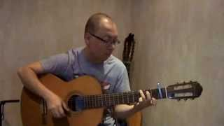 Пусть бегут неуклюже (гитара) - песенка крокодила Гены на гитаре