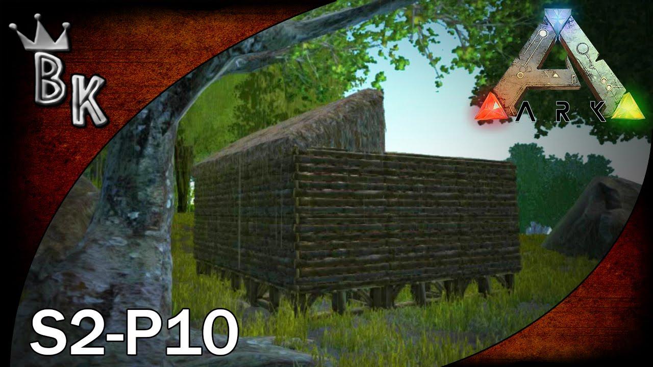 ark survival evolved gameplay s2 p10 sloped roof youtube - Ark Sloped Roof