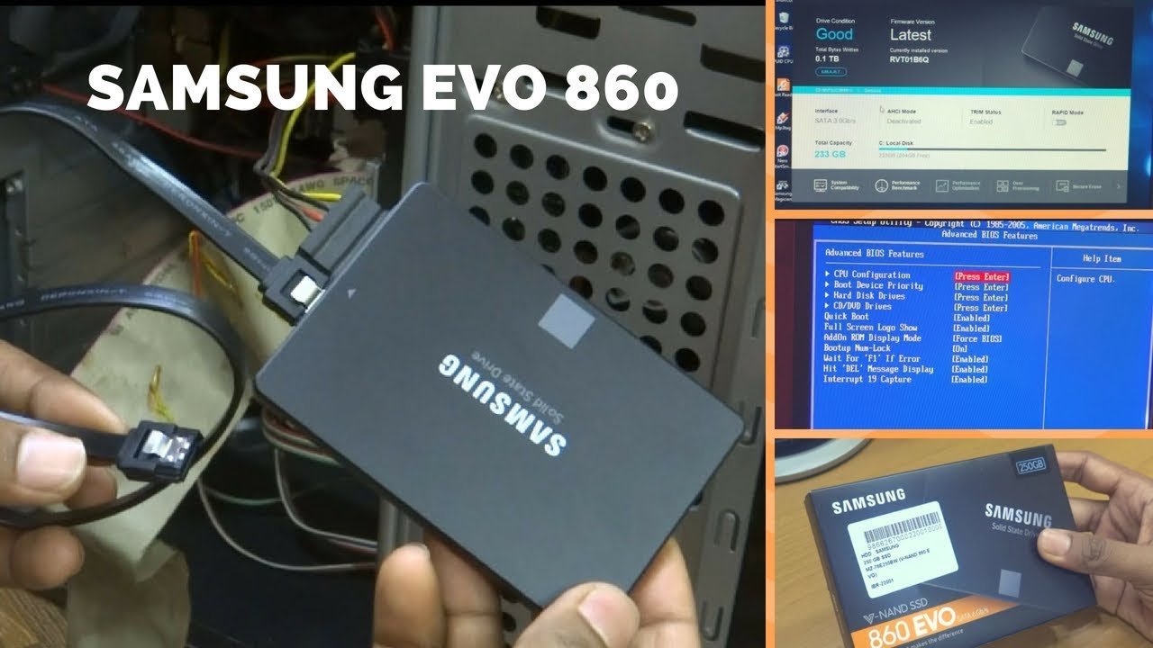 Installing Samsung Evo 860 250gb Ssd In G41 Board Unbox Review