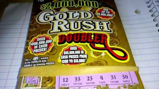 $10 gold rush 2nd chance is March 23 for non winning tickets. Good luck