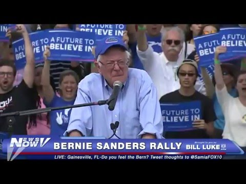 FNN: Bernie Sanders Rally in Gainesville, FL, Canadian Prime Minister Trudeau Visits White House