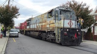 Morristown & Erie MX-29 on the Dundee Spur 10/29/14 - The Historic Movement of U34CH 3372