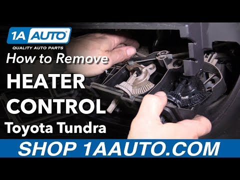 How To Replace Heater Control 00-06 Toyota Tundra
