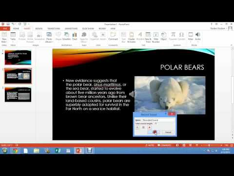 PowerPoint 2013 - Recording voice and automatic transitions