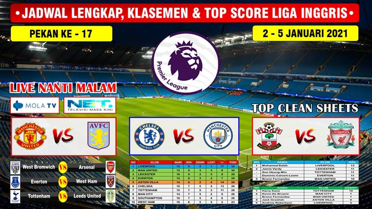 Jadwal Liga Inggris Malam Ini Live Net Tv Chelsea Vs Manchester City English Premier League 2021 Youtube