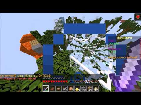 Skywars minecraft hacker volando por minecraft