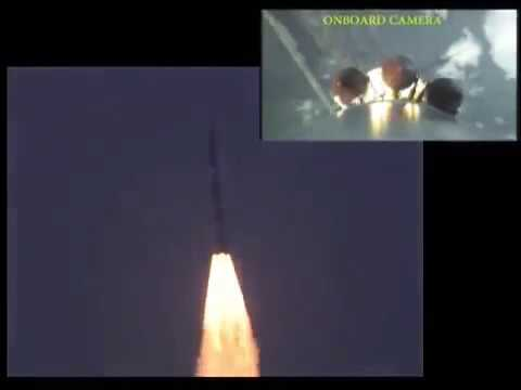 ISRO PSLV-C-37 Satellite Launch of 104  On board 📷 view of 104 Satellites getting into orbit.