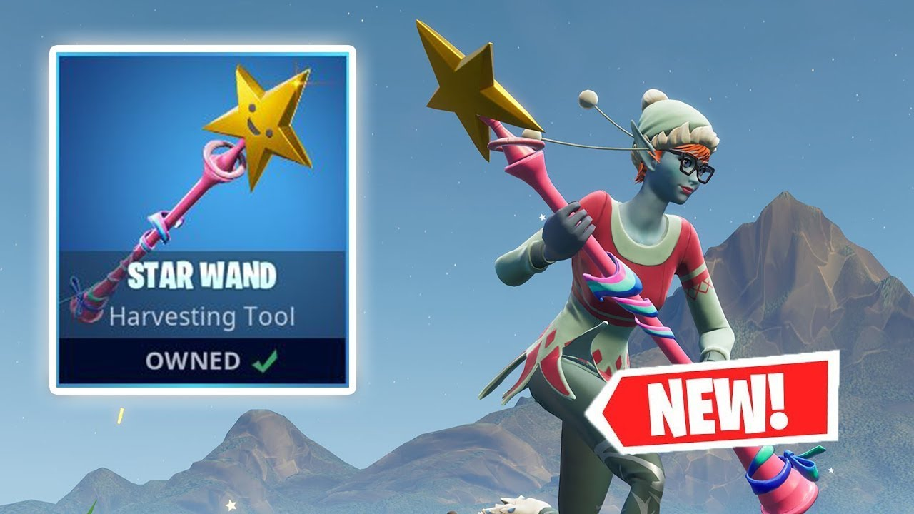 Does Star Pickaxe Fortnite Do More Damage New Star Wand Pickaxe Gameplay In Fortnite Youtube