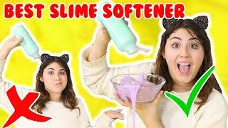 BEST SLIME SOFTENER TEST | testing different items for slime softer | Slimeatory #211