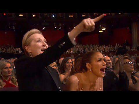 Thumbnail: Oscars 2015: Jennifer Lopez & Meryl Streep Go Nuts For Patricia Arquette | Hollyscoop News