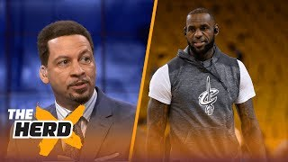 LeBron James and Lonzo Ball teaming up? Chris Broussard says it could happen | THE HERD thumbnail