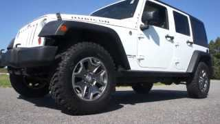 2011 Jeep Wrangler Rubicon Unlimited For Sale~6 Speed Manual~Leather~Navigation~Salvage Title
