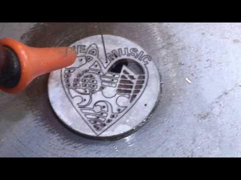 Scroll Saw Coin Cutting MusicLoveHeart (Rough Edit)