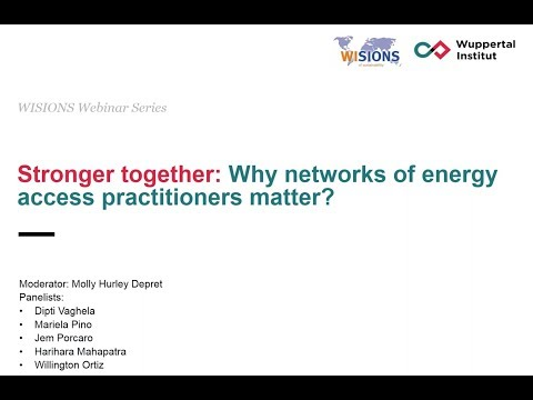 Stronger Together: Why Networks of Energy Access Practitioners Matter
