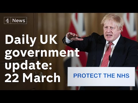 UK gov coronavirus update: special measures to protect most vulnerable - 22nd March