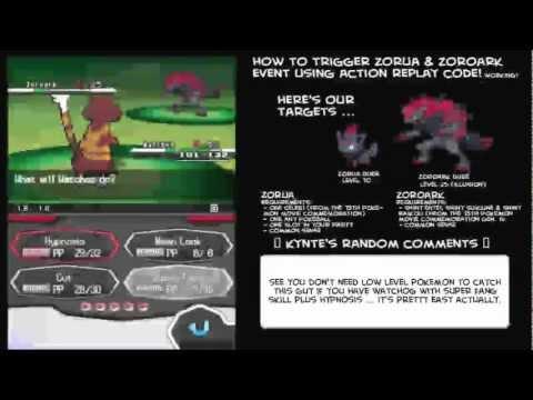 How To Trigger Zorua And Zoroark Event (Action Replay Code) Pokemon Black & White WORKING