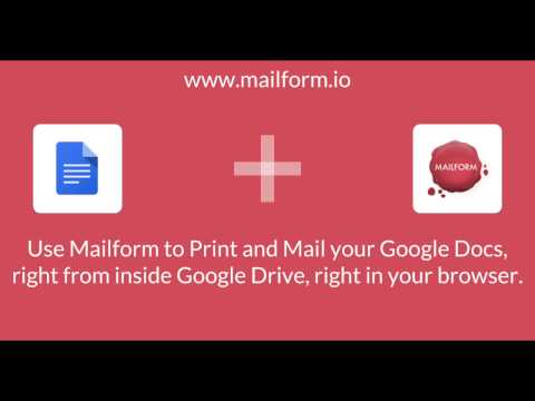 Easily Mail Google Docs via USPS First Class mail or Certified Mail