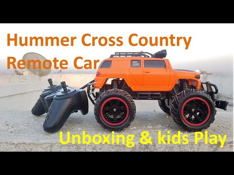 Hummer Look-alike, Mad Racing New Edition Cross-Country Remote Car | Unbox & Test | Kids Play