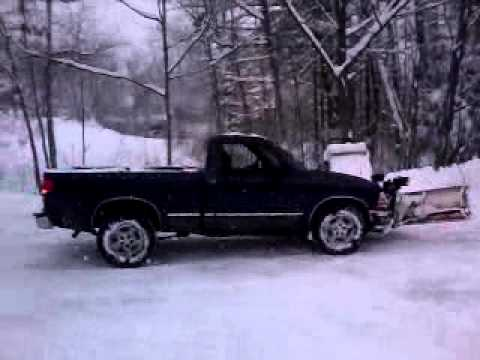 s10 snow plowing and f150 and my gmc - YouTube